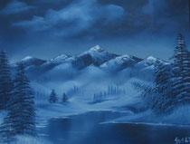 """Winter"" Öl auf Leinwand, 60 x 40cm  (190.-)"