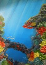 """Korallenriff 2"" Öl auf Leinwand, 50 x 70cm (240.-)"