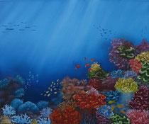 """""""Korallenriff"""" Öl auf Leinwand, 60 x 50cm (verkauft)"""