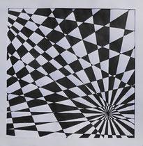 """""""Fluchtpunkt"""" Tusche aus Zeichenkarton, 30 x 30cm (149.-)  2015"""