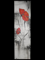 """""""Poppyfield"""" Acryl auf Leinwand, 28 x 100cm (unverkäuflich)  2014"""