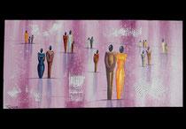 """""""Erwartungen"""" Acryl auf Leinwand, 100 x 50cm  (verkauft)"""