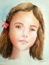 """""""Eloïse"""", dessin aquarellé"""