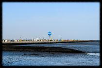 Fotografiert vom Schiff, Strand Dornumersiel