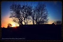 Sonnenuntergang in der Ramm-Siedlung
