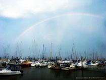 Toller Regenbogen über dem Yachtclub!!!
