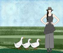 Pekin Duck Lady