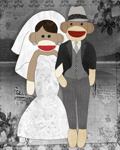 Sock Monkey Wedding