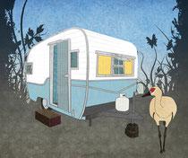 Travel Trailer Sandhill Crane