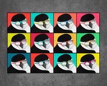Chinstrap Penguins Pop Art