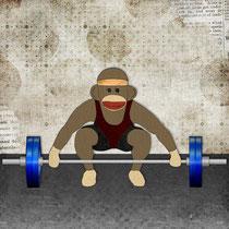 Sock Monkey Bodybuilder