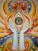 Divine consciousness - Aquarell auf Papier - 30cm x 40 cm - 2018 - SOLD
