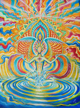 Conscious creator - Acryl auf Leinwand - 80cm x 60cm - 2018 - SOLD