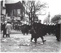 La police investit les rues de Liège