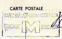 Cachet de la poste sur carte postale 1959