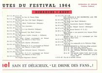 Programme 1964 Dimanche 9 Aout