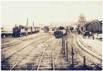 L'arrivée du vicinal en gare de Clavier