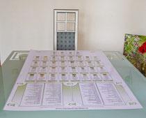"""Übersichtlich beim Deuten """" Hilfe beim Kartenlegen""""mit Orakelkarten Blaue Eule Mlle Lenormand"""