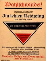 Wahlplakat 1924