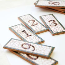 No.24  数字 4cm×10.7cm(サイズの変更可)1枚あたり 1,500円