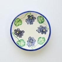 No.133 ゼラニウムの小皿  (長径約12cm) 3,500円
