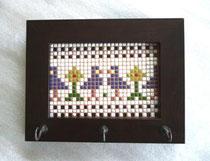 No.135  キーフック クロスステッチ (20×15cm) 7、000円