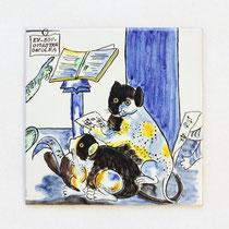 No.112  猫の音楽家 (15×15cm) 8,500円
