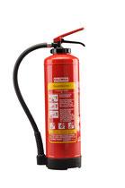 GLORIA FB 6 easy. Auflade Fettbrandlöscher. 6 l Löschinhalt. Löschkraft (Rating): 13A, 113B, 75F= 4 LE (Löschmitteleinheiten). Brandklasse ABF. Ablöschen von max. 75 l brennendem Speiseöl oder Speisefett. Funktionsbereich -30°C bis + 60°C.
