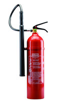 GLORIA Kohlendioxid Feuerlöscher KS 5 (Stahlbehälter). 5 kg Löschinhalt (Löschmittel CO²). Löschkraft (Rating): 89B= 5 LE (Löschmitteleinheiten). Brandklasse B. Funktionsbereich -30°C bis +60°C.