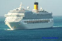 Costa Fortuna mit Kurs auf St. Maarten