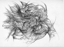 Tout se mange/mine de plomb sur papier/30x42cm/2014.