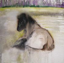 Oda vom Moorflur, Öl auf Baumwollgewebe, 160 x 160 cm, 2006