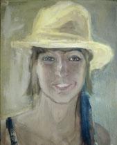 Meine Nichte Antonia,Öl auf Baumwollgewebe, 50 x 60 cm, 2009