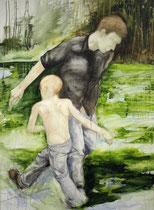 Spielkinder, Acryl auf Baumwollgewebe, 110 x 150 cm, 2008