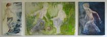Triptychon, Acryl auf Baumwollgewebe,  2008