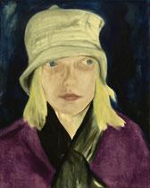 Meine Nichte Louisa, Öl auf Baumwollgewebe, 50 x 60 cm, 2009