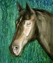 Lanthan, Öl auf Baumwollgewebe, 40 x 50 cm, 2008