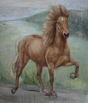 Huaman, Acryl auf Leinwand, 170 x 200 cm, 2009