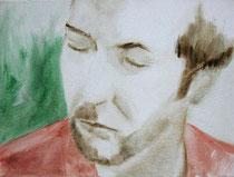 Mein Bruder Peter, Öl auf Baumwollgewebe, 30 x 40 cm, 2004