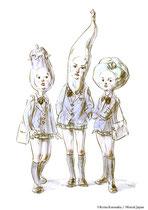 女子高生たち/(右)カボコ、(中)バンナ、(左)ナスミ