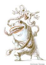 ケロンパ&タンボ/ケロンパ:自称「哲学者」の小うるさいオヤジ。 タンボ:象と蛇の混血動物でケロンパのペット。飼い主のの言葉を極端な拡大解釈でオーム返しする超能力をもつ。