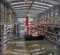 Papenburg, Meyer Werft, Forschungsschiff Sonne