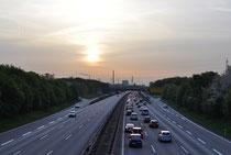A40 Richtung Duisburg