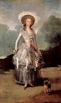 das Bildnis Marquesa de Pontejos von Franzisko de Goja       Quelle:Wikipedia