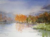 Herbst an der Talsperre Kriebstein
