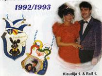 Ralf I. & Klaudija I. - Prinzenpaar 1992/ 1993