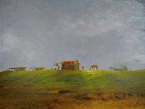 vintage style photo, handpainted landscape of the countryside of Maldonado, Uruguay