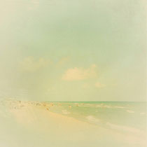vintage style photo, beach of Castelldefels in Barcelona, Catalunya