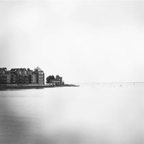black and white photo, seascape of Holland