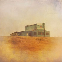 vintage style photo, handpainted old wooden house in cabo Polonio, Uruguay
